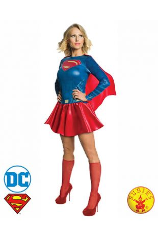 Supergirl, Justice League Officially Licensed DC Comics Costume - Buy Online with Afterpay, Paypal or Layby at Little Shop of Horrors Costumery - Costume Shop Melbourne