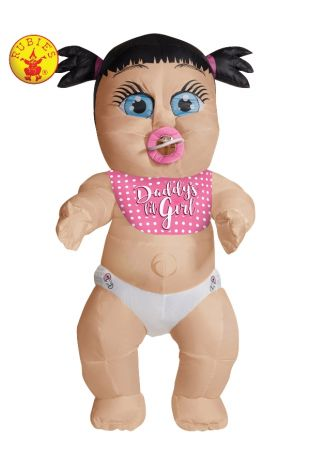 DADDY'S LIL GIRL INFLATABLE BABY COSTUME, ADULT
