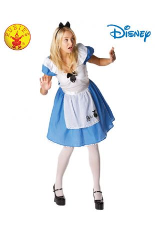 Alice in Wonderland Officially Licensed Disney Costume - Buy Online with Afterpay, Paypal or Layby at Little Shop of Horrors Costumery - Costume Shop Melbourne