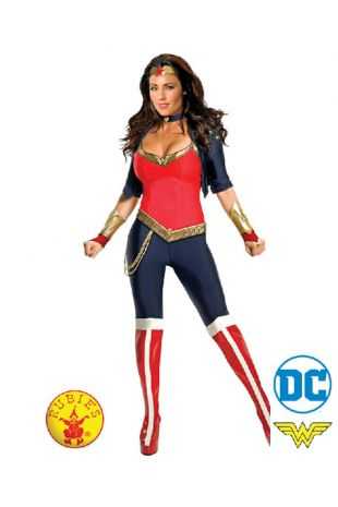 Wonder Woman, Justice League Officially Licensed DC Comics Costume - Buy Online with Afterpay, Paypal or Layby at Little Shop of Horrors Costumery - Costume Shop Melbourne