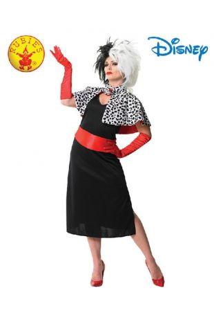 101 Dalmations Villain, Cruella De VIlle Officially Licensed Disney Costume - Buy Online with Afterpay, Paypal or Layby at Little Shop of Horrors Costumery - Costume Shop Melbourne