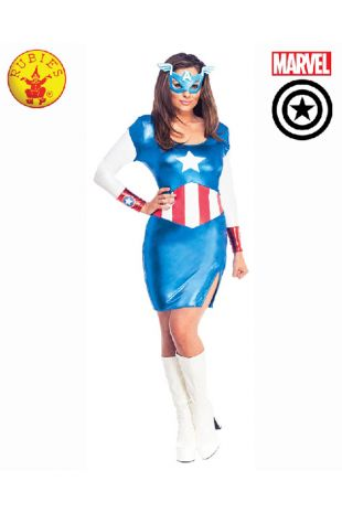 Captain America Sexy Costume available to buy with Afterpay, Paypal or Layby at Little Shop of Horrors Costumery - The best costume shop in Melbourne
