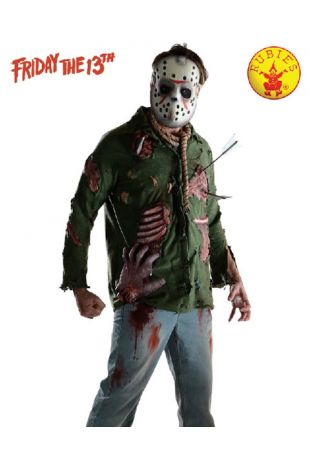 Jason Voorhees Costume, Officially Licensed Friday the 13th Costume - Buy Online with Afterpay, Paypal or Layby at Little Shop of Horrors Costumery - Costume Shop Melbourne