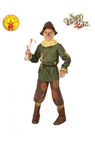 Wizard of Oz Scarecrow Child Costume available at Little Shop of Horrors Costumery the best costume shop in Melbourne, Mornington Peninsula & Frankston