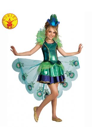 PEACOCK DELUXE COSTUME, CHILD