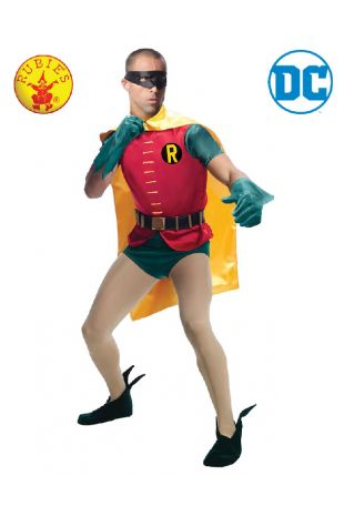 Batman & Robin 1966 Collectors Edition Costume available to buy with Afterpay, Paypal or Layby at Little Shop of Horrors Costumery - The best costume shop in Melbourne