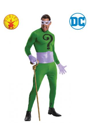 The Riddler Collectors Edition Costume available to buy with Afterpay, Paypal or Layby at Little Shop of Horrors Costumery - The best costume shop in Melbourne
