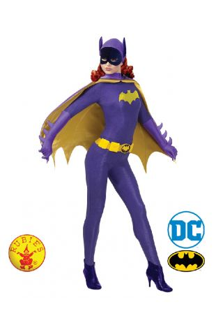 Batgirl 1966 Collectors Edition Costume available to buy with Afterpay, Paypal or Layby at Little Shop of Horrors Costumery - The best costume shop in Melbourne