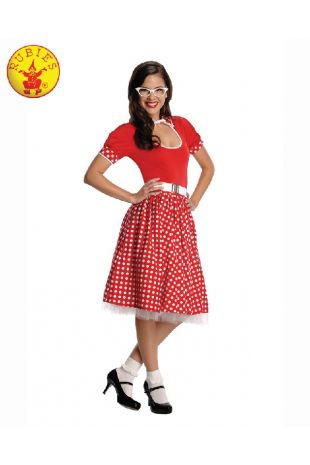 50'S NERD GIRL COSTUME, ADULT