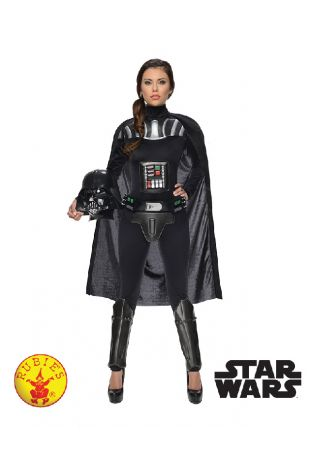 Darth Vader Ladies Star Wars Officially Licensed Costume - Buy Online with Afterpay, Paypal or Layby at Little Shop of Horrors Costumery - Costume Shop Melbourne