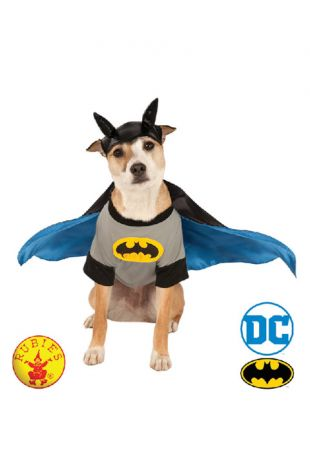 Batman Officially Licensed DC Comics Pet Costume - Buy Online with Afterpay, Paypal or Layby at Little Shop of Horrors Costumery - Costume Shop Melbourne