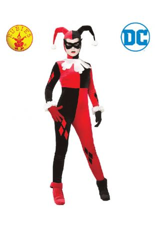 Harley Quinn Officially Licensed DC Comics Costume - Buy Online with Afterpay, Paypal or Layby at Little Shop of Horrors Costumery - Costume Shop Melbourne