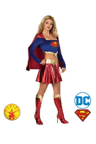 Supergirl Costume, Justice League Officially Licensed DC Comics Costume - Buy Online with Afterpay, Paypal or Layby at Little Shop of Horrors Costumery - Costume Shop Melbourne