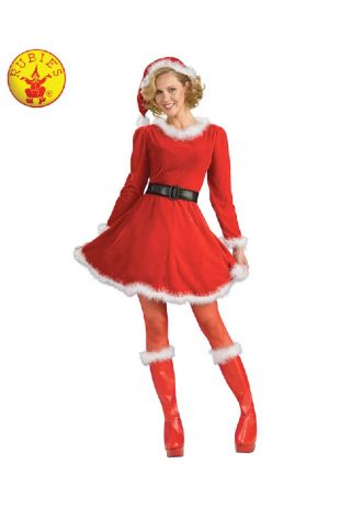 MRS CLAUS DELUXE COSTUME, ADULT