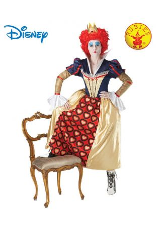 Queen of Hearts, Alice in Wonderland Officially Licensed Disney Costume - Buy Online with Afterpay, Paypal or Layby at Little Shop of Horrors Costumery - Costume Shop Melbourne