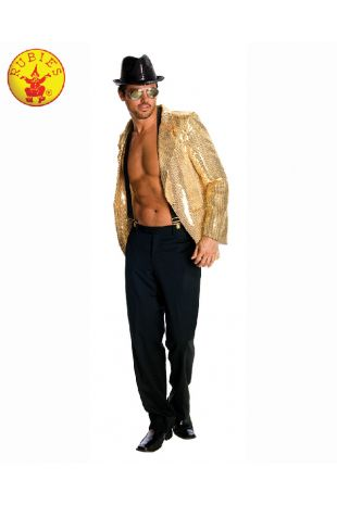 SEQUIN JACKET MEN GOLD, ADULT