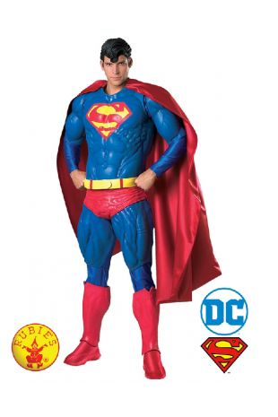 Superman Collectors Edition Costume available to buy with Afterpay, Paypal or Layby at Little Shop of Horrors Costumery - The best costume shop in Melbourne