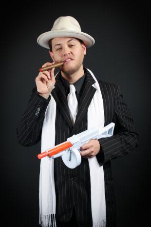 Roaring Twenties 1920s Gangster Costume from Little Shop of Horrors Costumery Mornington Frankston Melbourne Victoria