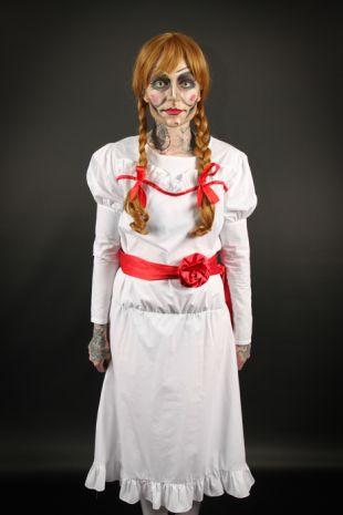 Annabelle Doll Conjuring Costume - Little Shop of Horrors Costumery, Mornington, Frankston, Costume Shop, Fancy Dress, Halloween,