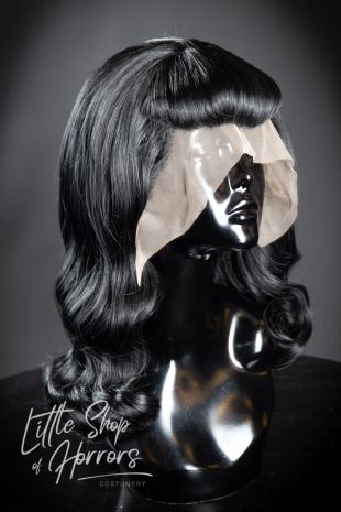 Vintage Styled 1930s 1940s Lace Front Wig with Victory Rolls