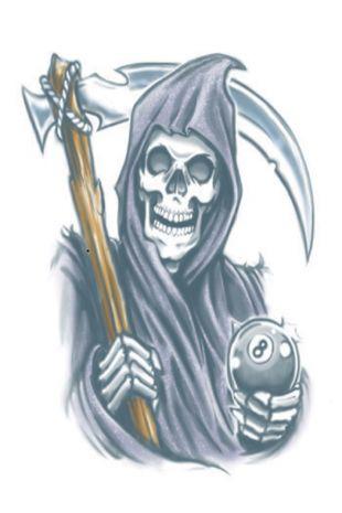 Biker Reaper Tattoo