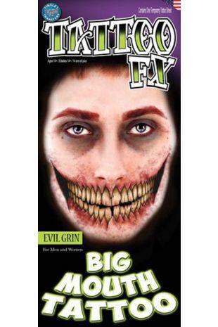 Big Mouth Tattoo: Evil Grin