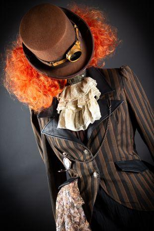 Bad Hattie the evil Mad Hatter Alice in Wonderland Halloween Costume Hire