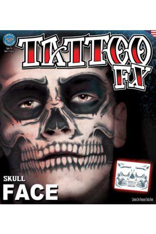 Face Tattoo: Skull