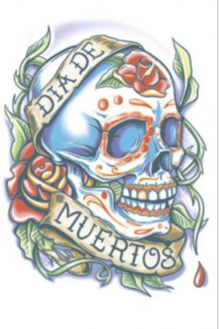 Day of the Dead La Rosa Tattoo