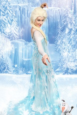 Elsa Costume Hire- Walt Disney Frozen Costume - Queen Elsa Of Arendelle Costume-  Little Shop of Horrors Costumery - Costume Hire Shop - Mornington Frankston Langwarrin Melbourne Fancy Dress