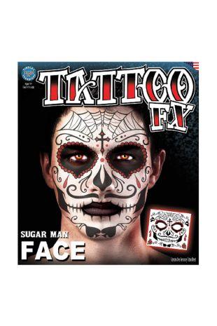 Face Tattoo: Sugar Skull