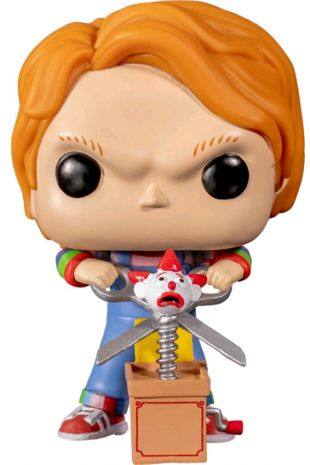 Childs Play: Chucky Half Battle Damaged Pop! Little Shop of Horrors Costumery 6/1 Watt Rd Mornington Melbourne Australia