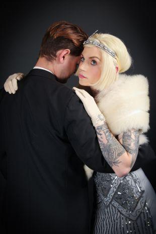 Daisy Buchana Great Gatsby Roaring Twenties 1920s Costume - Little Shop of Horrors Costumery - Costume Hire Shop - Mornington Frankston Melbourne Victoria Australia