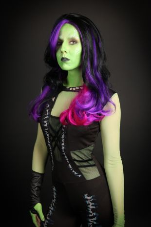 Gamora Guardians of the Galaxy Costume - Little Shop of Horrors Costumery - Costume Hire Shop - Mornington Frankston Melbourne Victoria Australia