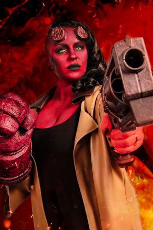 Hellboy Replica Costume Hire - Little Shop of Horrors Costumery Mornington Frankston Melbourne Victoria