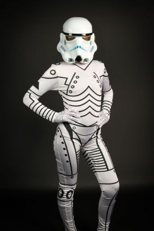 Stormtrooper Ladies Costume - Star Wars - Little Shop of Horrors Costumery - Costume Hire Shop - Mornington Frankston