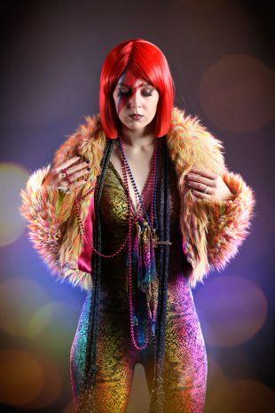 Lady Stardust - 1970s Disco Studio 54 Costume - Little Shop of Horrors Costumery - Costume Hire Shop - Mornington Frankston