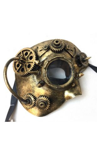 Steampunk Phantom Masquerade Mask available in-store or online at Little Shop of Horrors Costumery Costume Shop Mornington Melbourne Victoria Australia