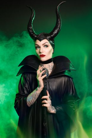 Maleficent Costume Evil Queen from Sleeping Beauty - Hire at Little Shop of Horrors Costumery the best costume hire shop in Mornington Peninsula, Frankston and Melbourne