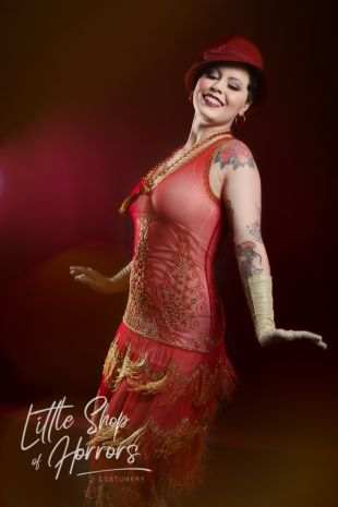 Tattooed Lady - Circus Freak Show Costume - Little Shop of Horrors Costumery - Costume Hire Shop - Mornington Frankston