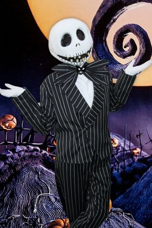 Jack Skellington Nightmare Before Christmas Costume Hire - Little Shop of Horrors Costumery Mornington- Frankston- Melbourne- Victoria- Disney Tim Burton