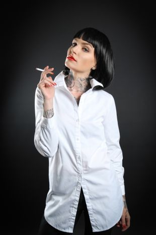 Mia Wallace - Pulp Fiction Costume - Little Shop of Horrors Costumery - Costume Hire Shop - Mornington Frankston