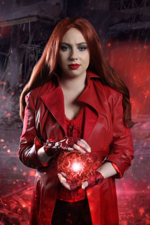 Scarlet Witch Costume - Deluxe costume available to hire at Little Shop of Horrors Costumery - The biggest & best costume shop in Melbourne, Mornington Australia