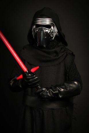 Kylo Ren Collectors Edition Licensed Star Wars costume is available to hire now at Little Shop of Horrors Costumery- Only the best costumes and highest quality of costumes at the best costume shop on the Mornington Peninsula, Frankston and Melbourne