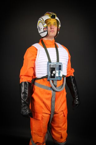 Star Wars Luke Skywalker Costume - Red Five X-Wing Pilot Flight Suit available to hire now as part of Little Shop of Horrors Costumerys Collectors Edition Star Wars collection - The best quality costumes in Mornington Frankston Melbourne Victoria