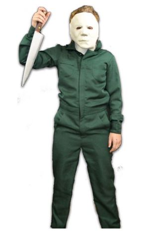 Halloween 2 - Coveralls Costume & Mask Combo Child