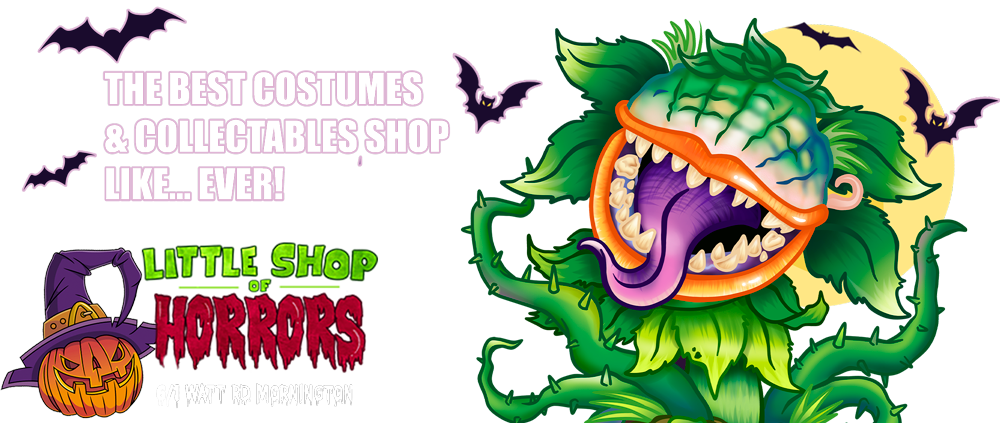 Little Shop of Horrors Costumery & Collectables   |   Costume Hire, Buy Costumes, Pop Culture Collectables   |   6/1 Watt Road Mornington Frankston Melbourne Australia
