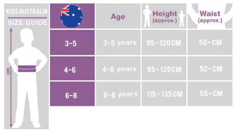 Australia Size Guide