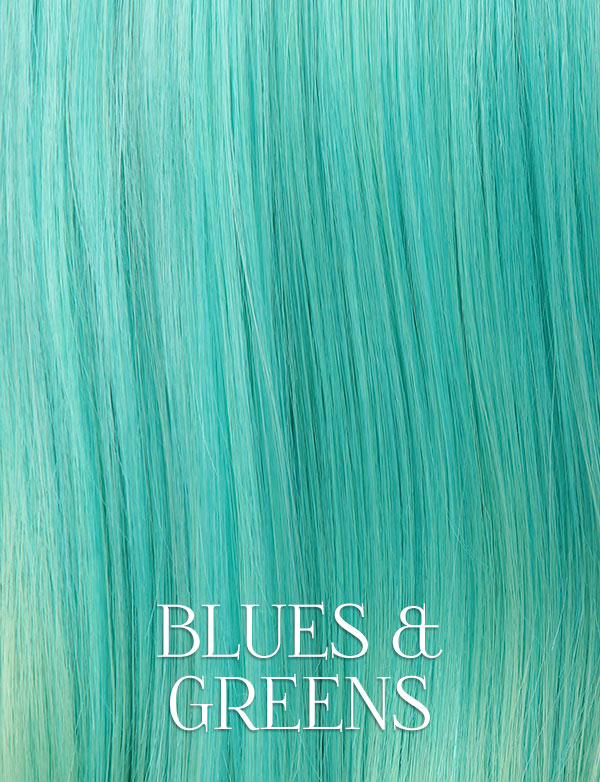 Blues & Greens Lace Front Wigs