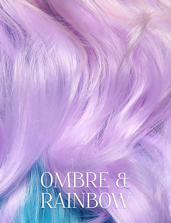Rainboe & Ombre Lace Front Wigs
